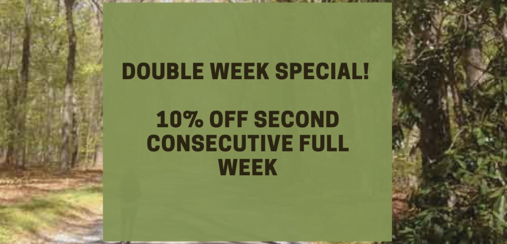 Double Week Special: 10% Off second consecutive full week